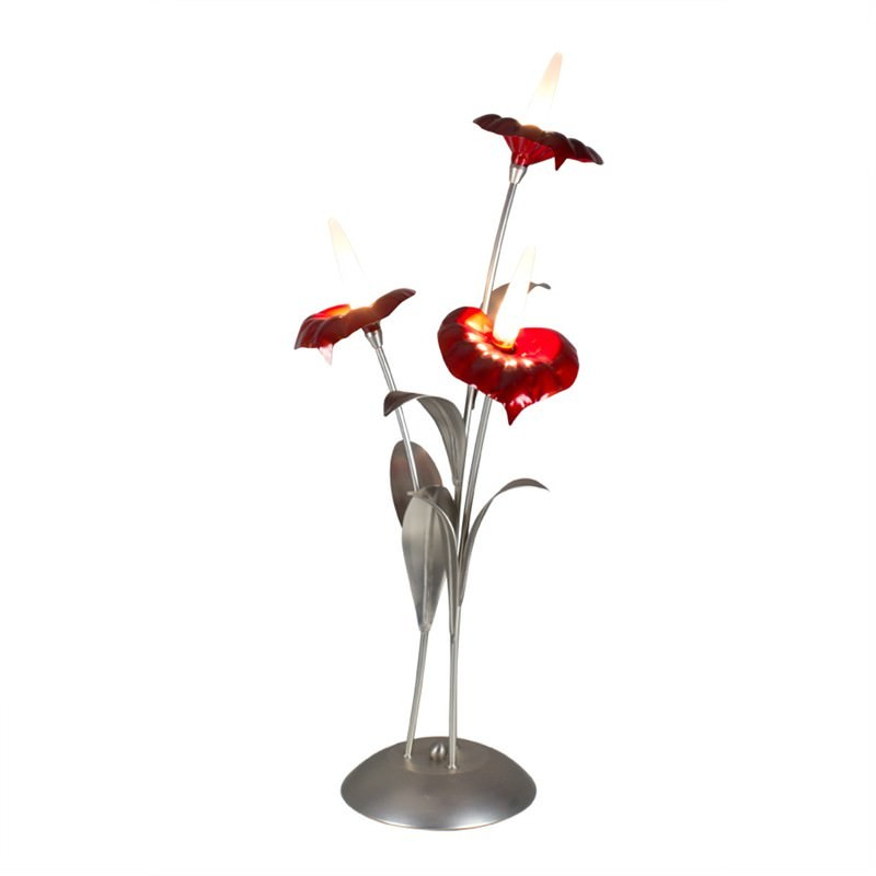 Flamingo Lily 3 Light Table Lamp