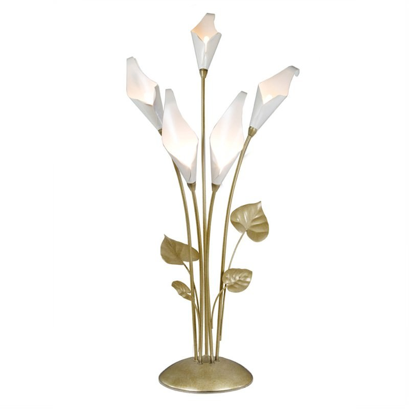 Calla Lily 5 Light Table Lamp in Champagne