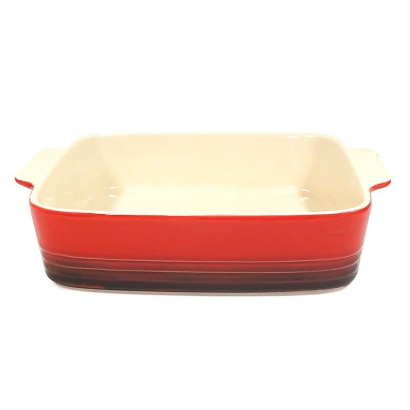 Cucina Square Stoneware Baker in Red