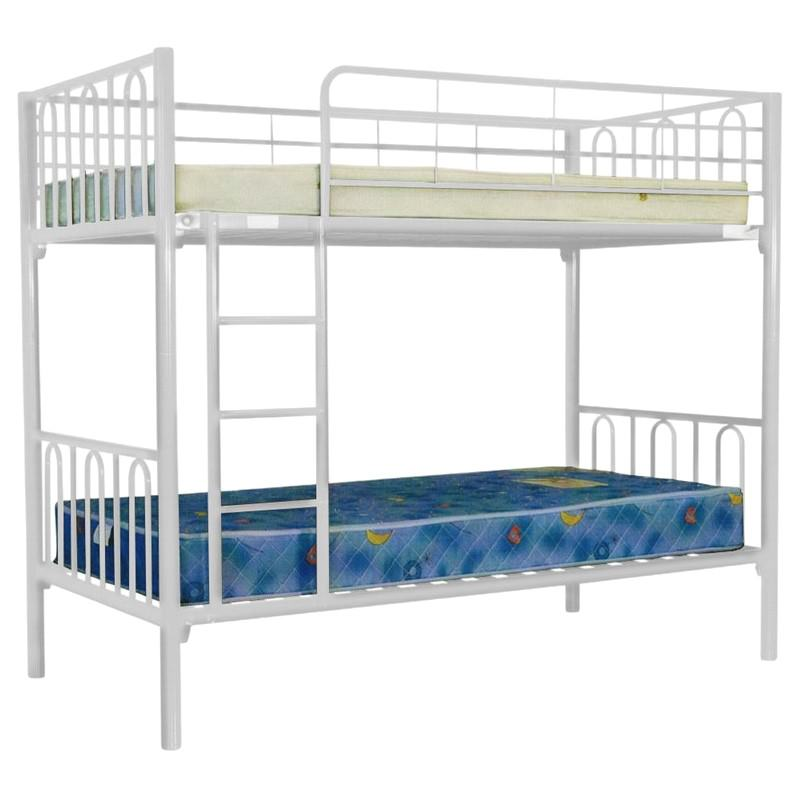 Sydney Metal Single Bunk Bed - White