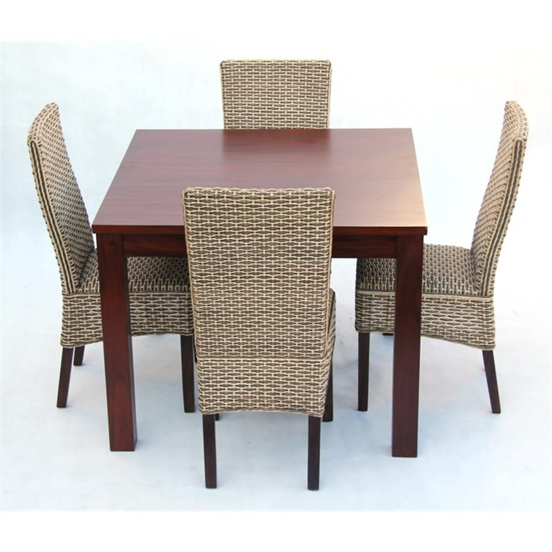 Marthas Vineyard Light 5-piece Solid Mahogany Timber Dining Set