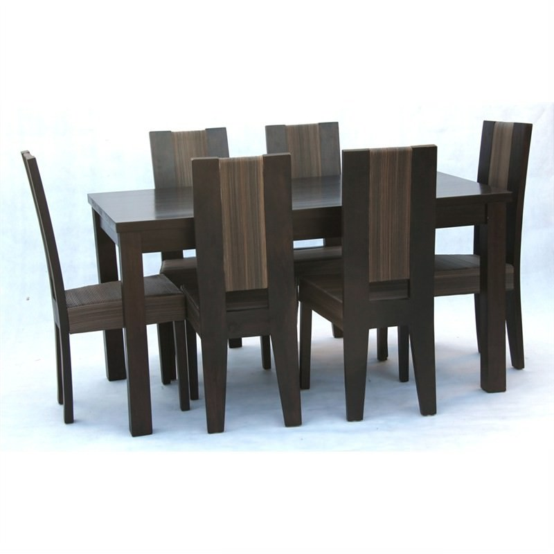 Denison 7-piece Solid Mahogany Timber Dining Set