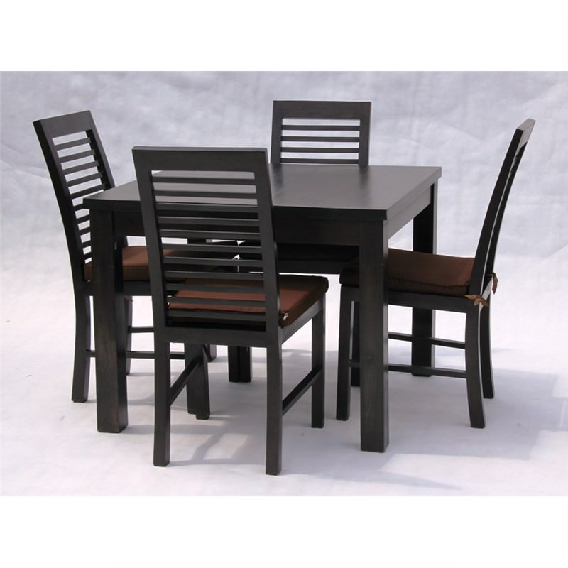 Sullivan 5-piece Solid Mahogany Timber Dining Set