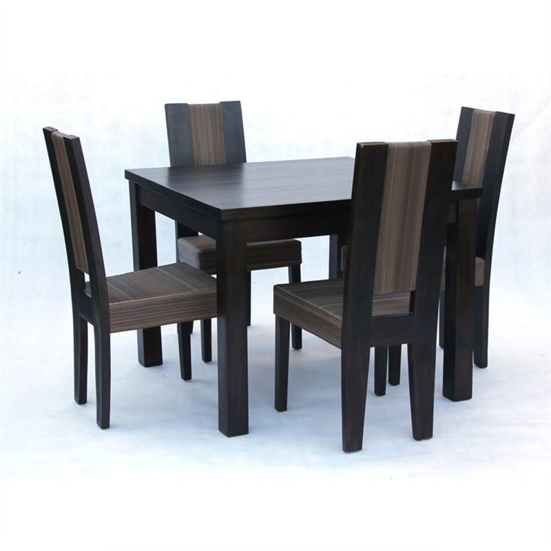 Denison 5-piece Solid Mahogany Timber Dining Set