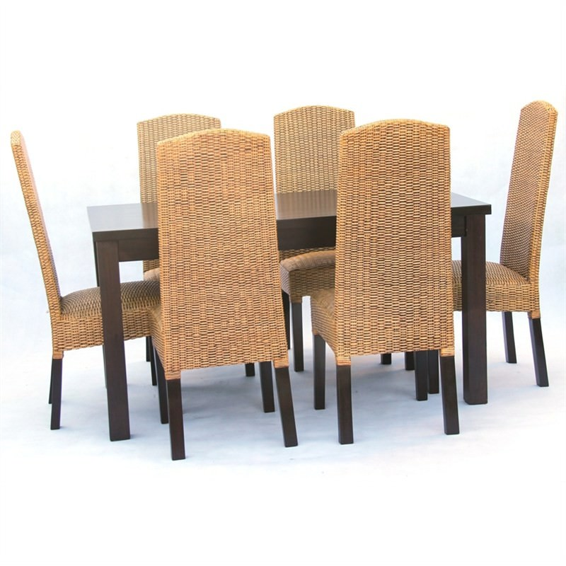 Sandy Bay 7-piece Solid Mahogany Timber Dining Set