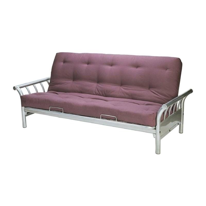 Surf Futon Sofa Bed Frame, Silver (Mattress Sold Separately)