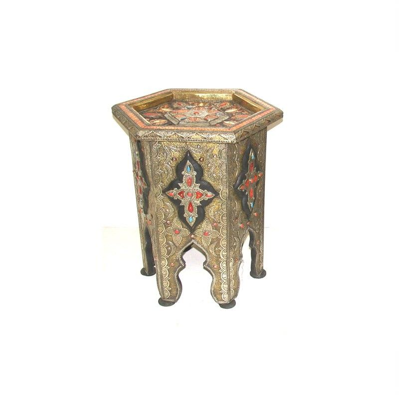 Moroccan Hexagonal Touraeg Side Table