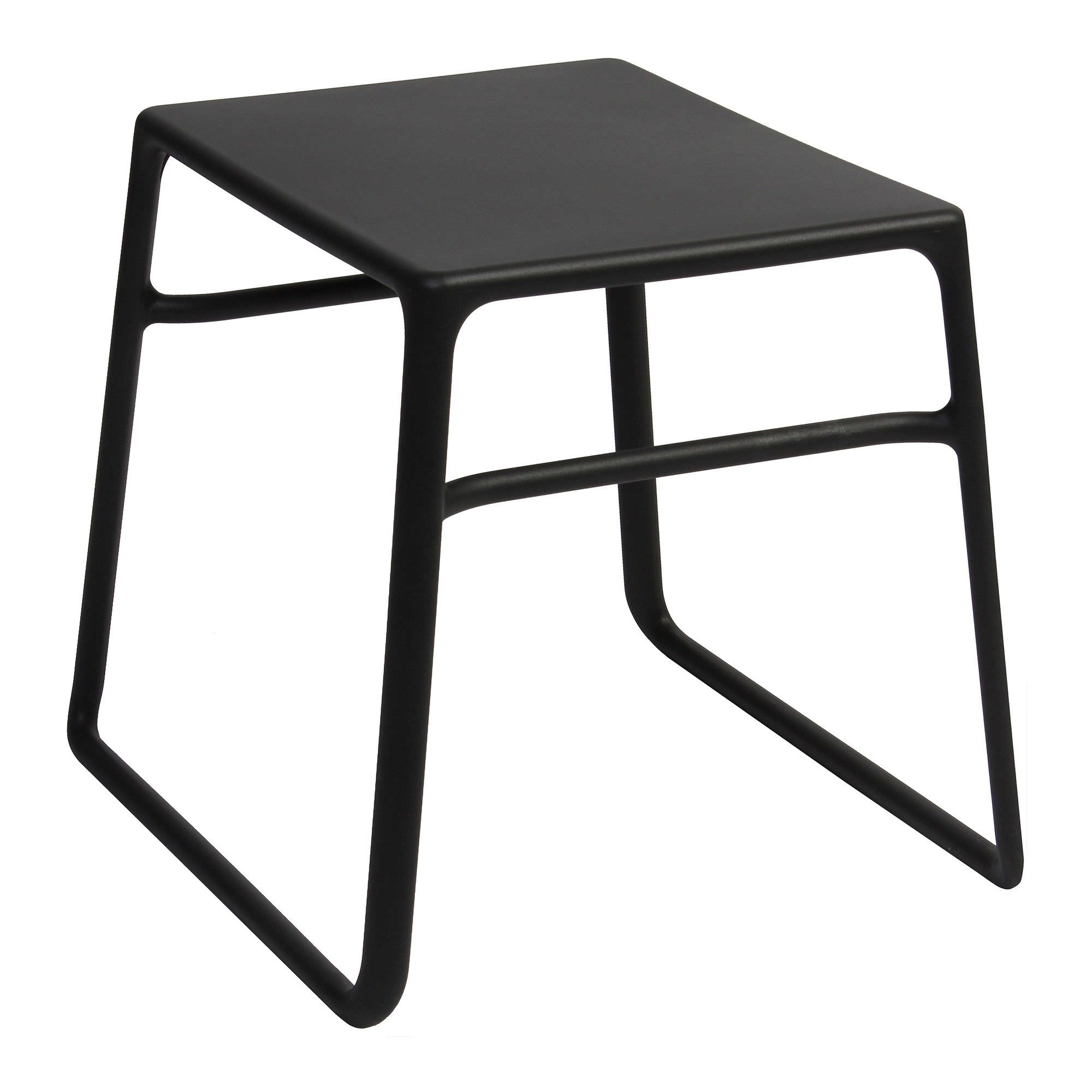 Pop Italian Made Commercial Grade Outdoor Side Table, Anthracite