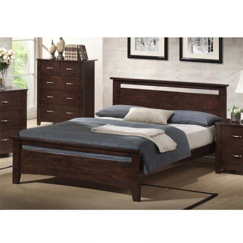 Tayla Double Bed - Chocolate