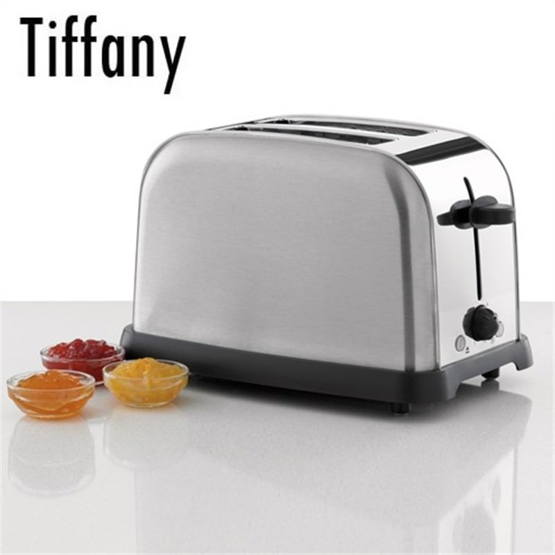 TIFFANY 2 Slice Stainless Steel Toaster