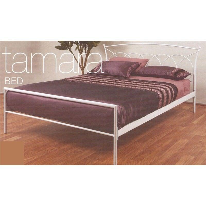 Tamara White Metal Bed - Queen