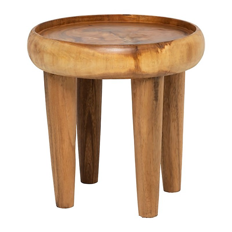 Tallow Suar Wood Tray Top Side Table