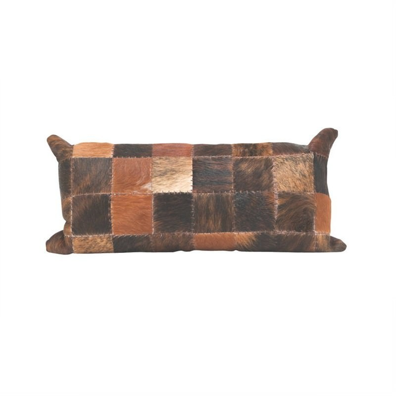 Patch Calf Hide Pillow Chocolate