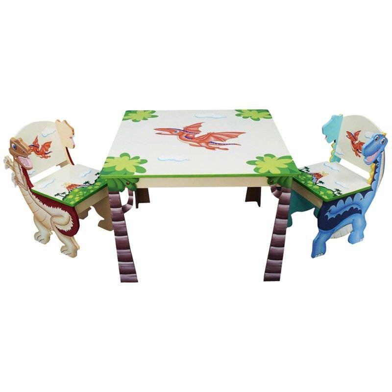 Dinosaur Table and 2 Chair Set