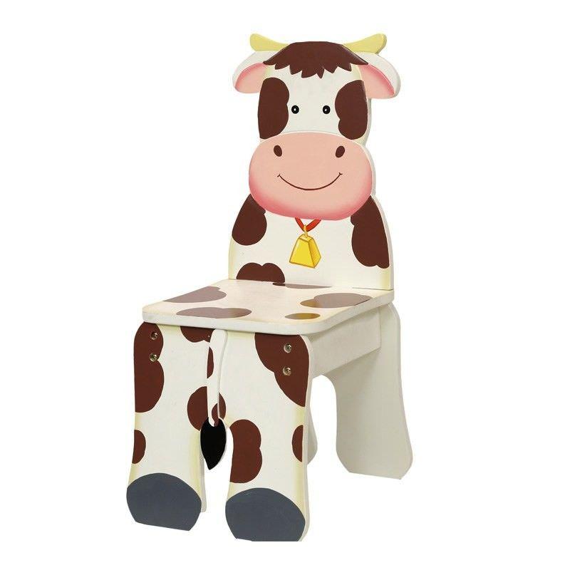 Teamson Happy Farm Room Novelty Chair - Cow