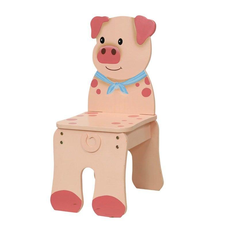 Teamson Happy Farm Room Novelty Chair - Pig