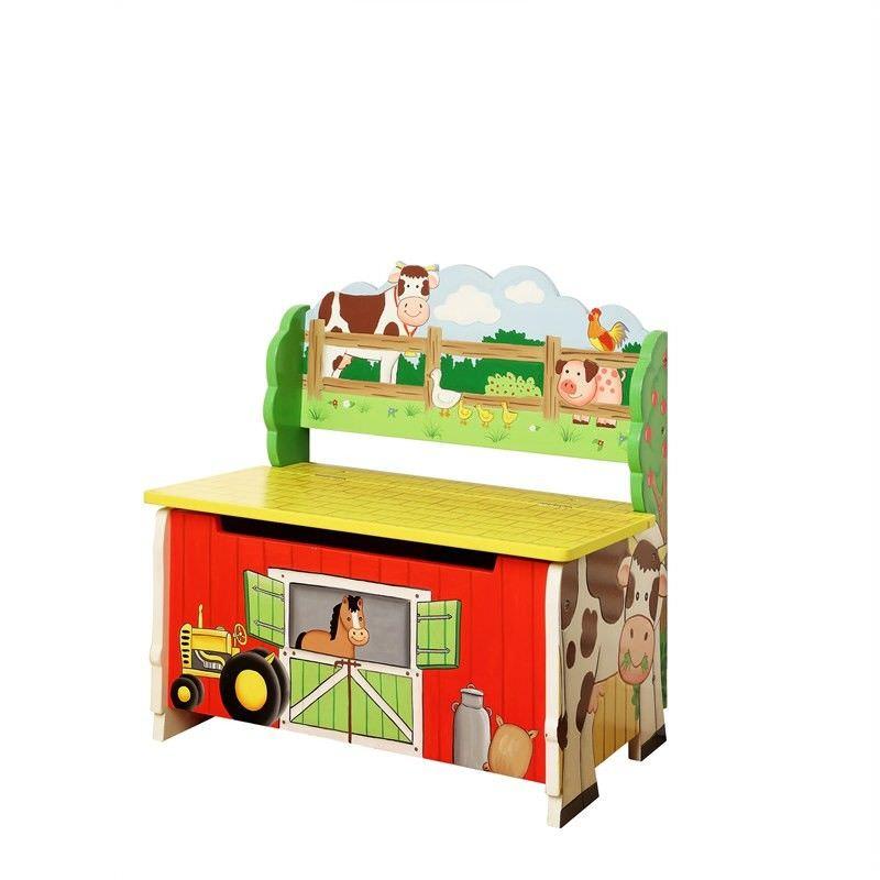 Teamson Happy Farm Room Storage Bench