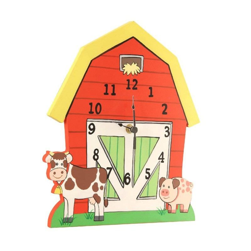 Teamson Happy Farm Room Wooden Wall Clock