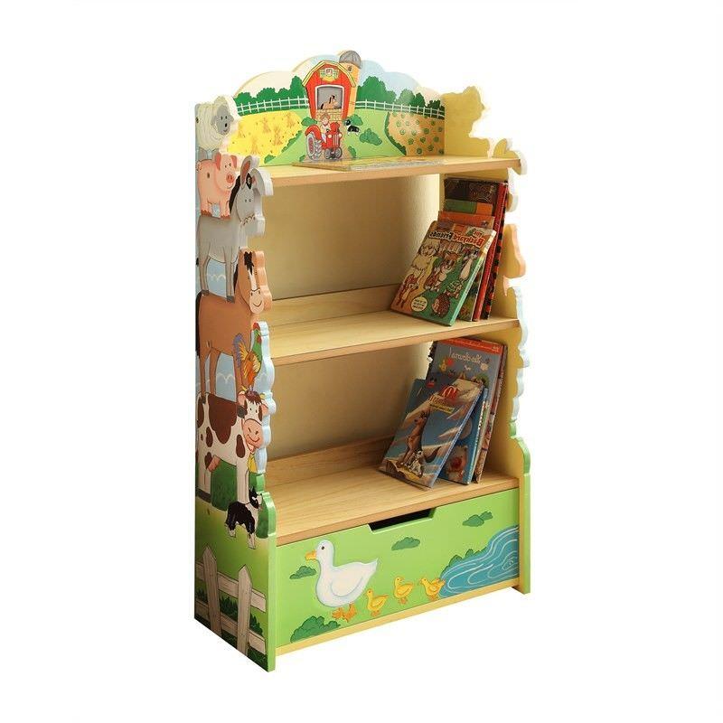 Teamson Happy Farm Room Wooden Bookcase