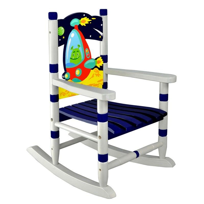 Fantasy Fields by Teamson Outer Space Small Kids Rocking Chair