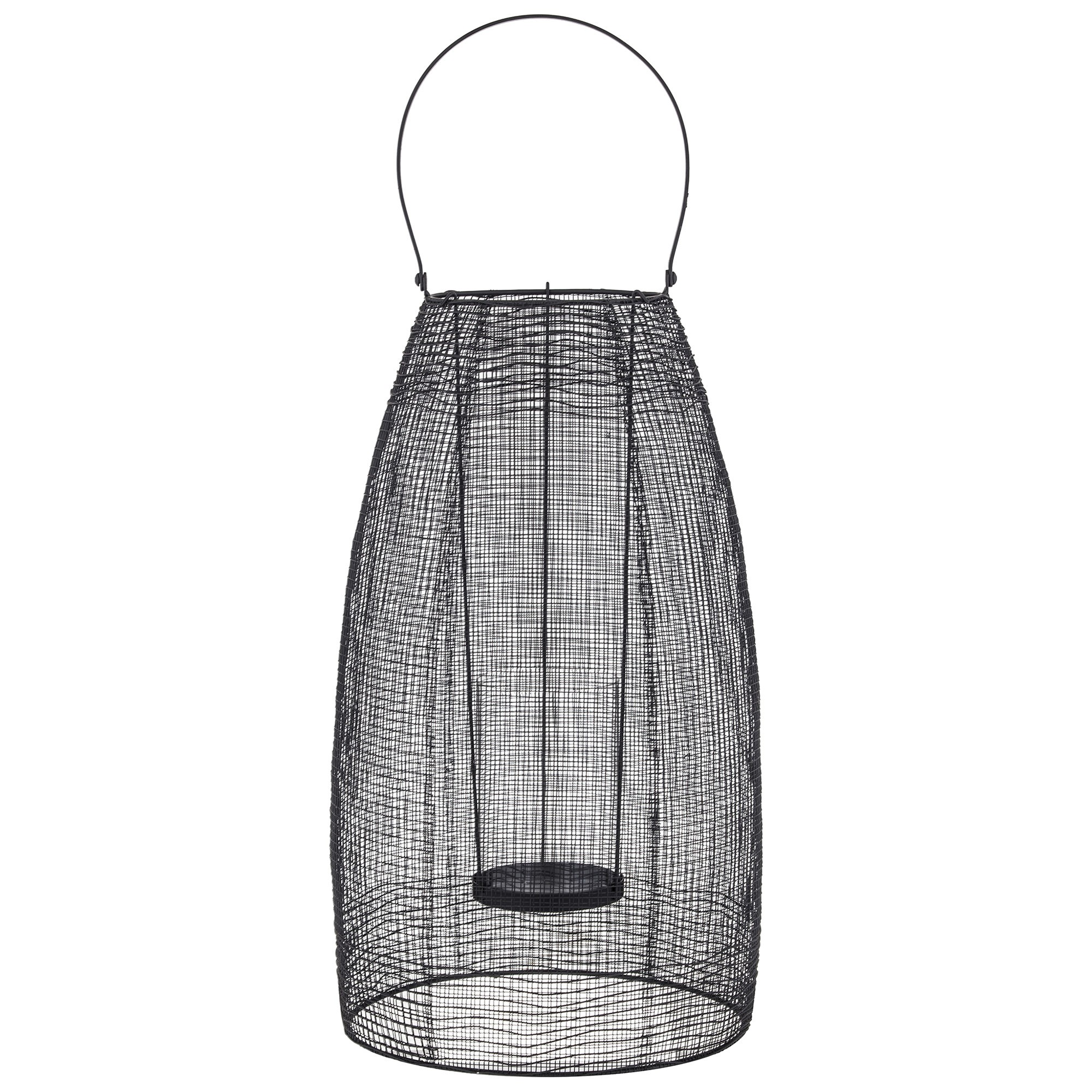 Hyde Metal Mesh Lantern, Large, Black