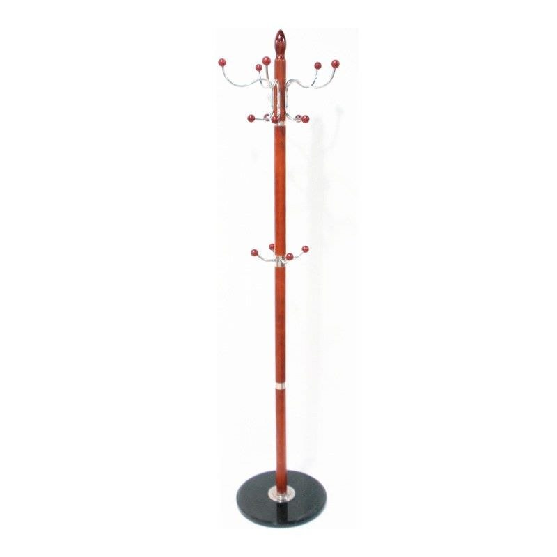 Marble Clothes and Hat Stand in Red - 178cm