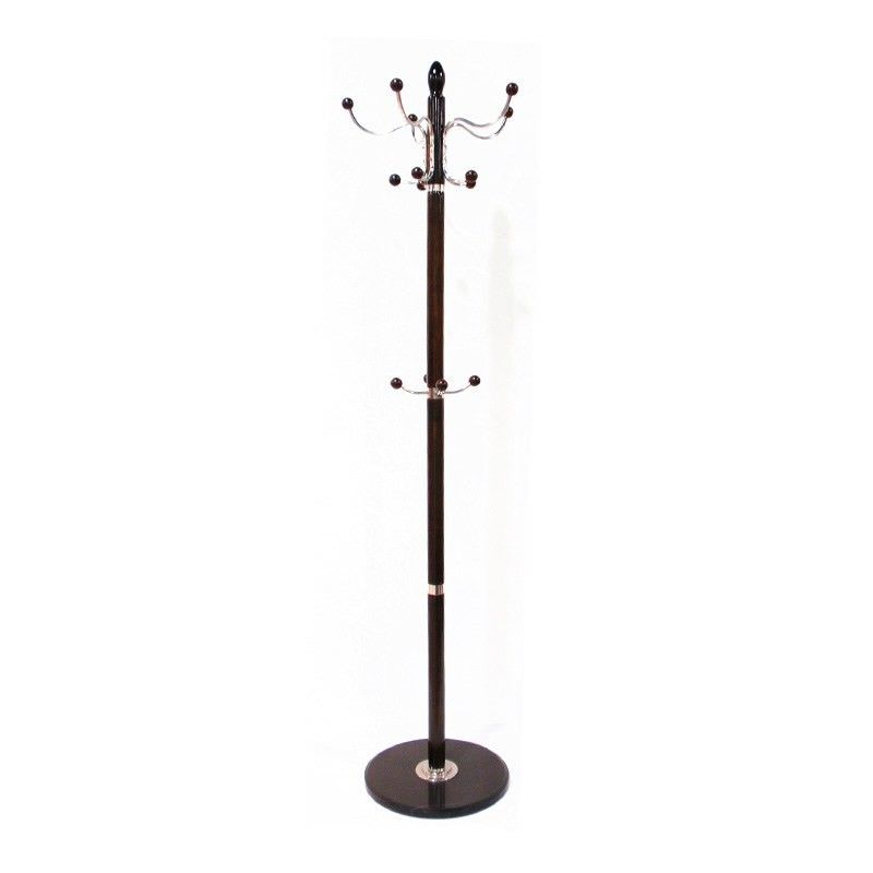 Marble Clothes and Hat Stand in Walnut - 178cm