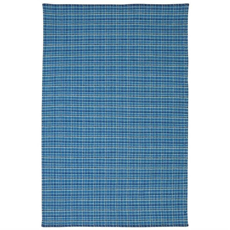 Theory Flat Weave Cotton Rug in Blue - 180x270cm