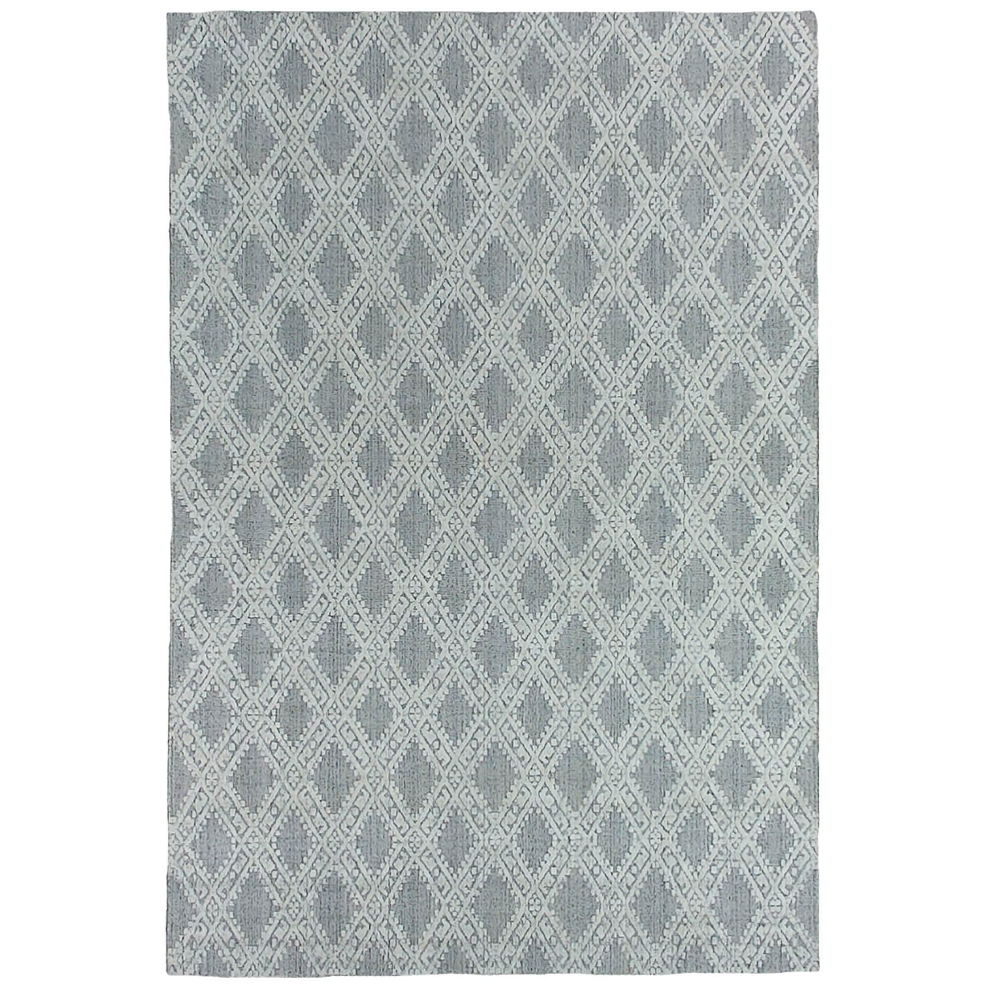Timeless Elegance Hand Loomed Wool & Viscose Rug, 300x400cm, Natural / Grey