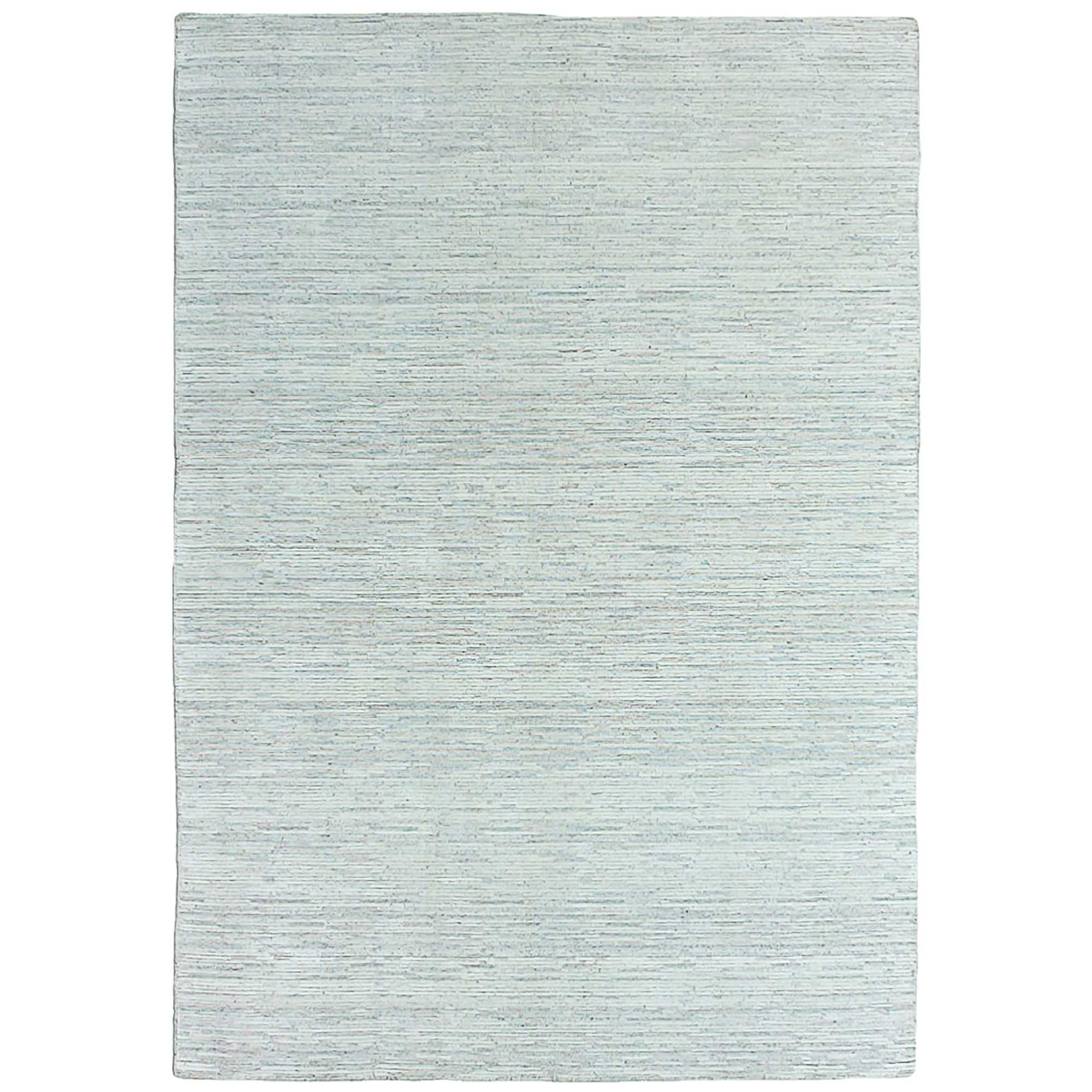 Timeless Stokes Hand Loomed Wool & Viscose Rug, 250x350cm, Natural / Grey