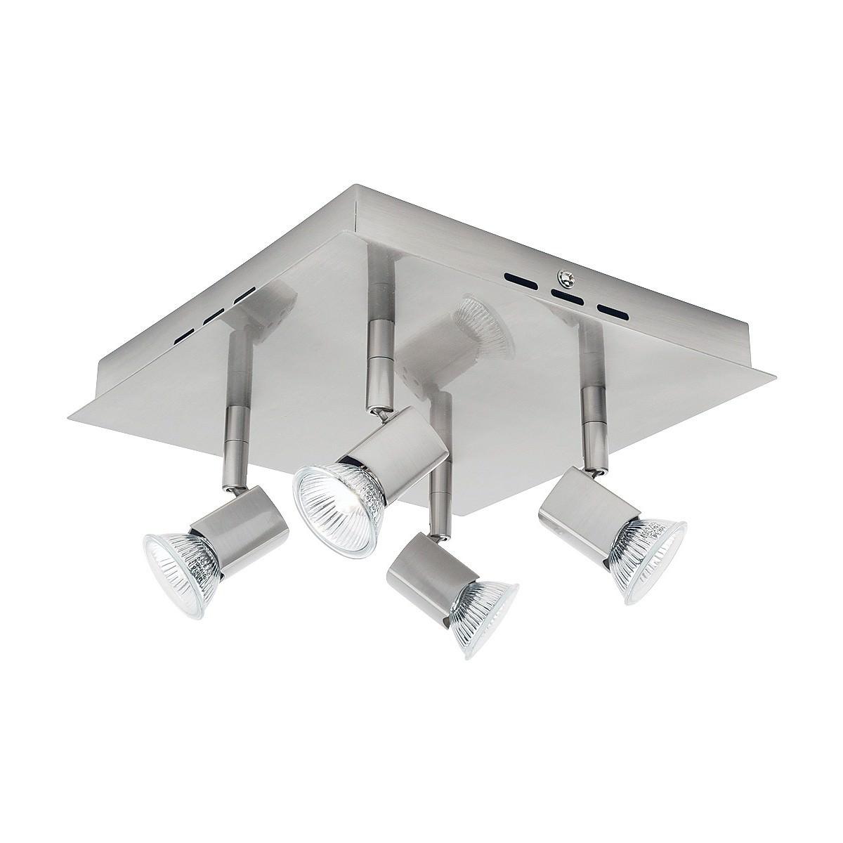 Titan Metal Square Spotlight, 4 Light, Satin Chrome