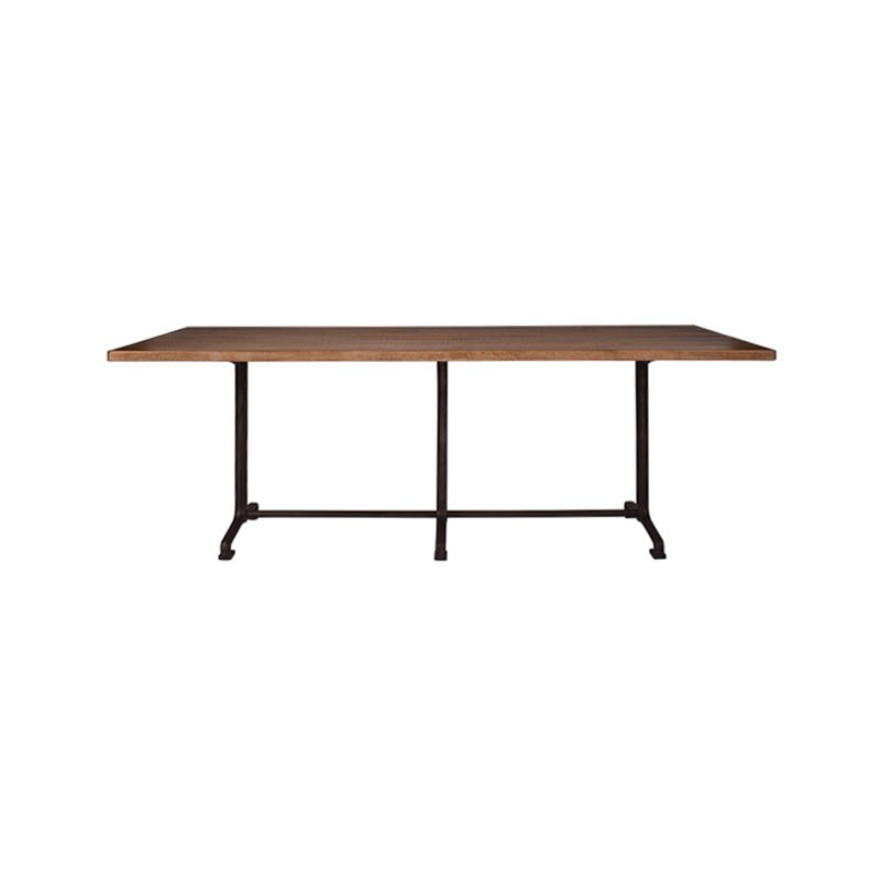 Beaufort Reclaimed Oak Timber & Iron Dining Table, 220cm