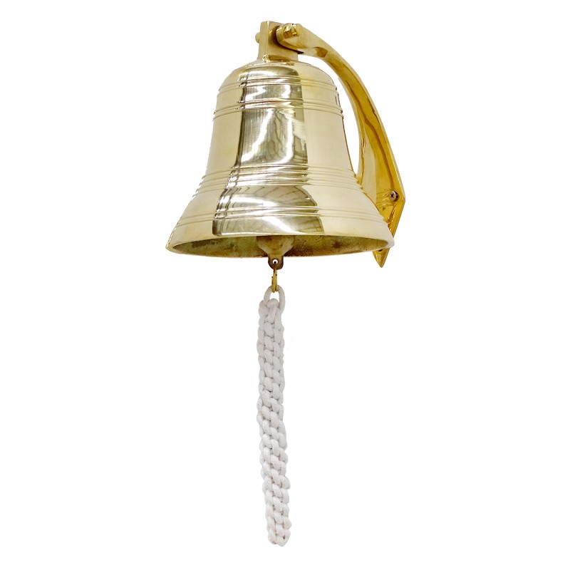Cluden Brass Hanging Bell, Large