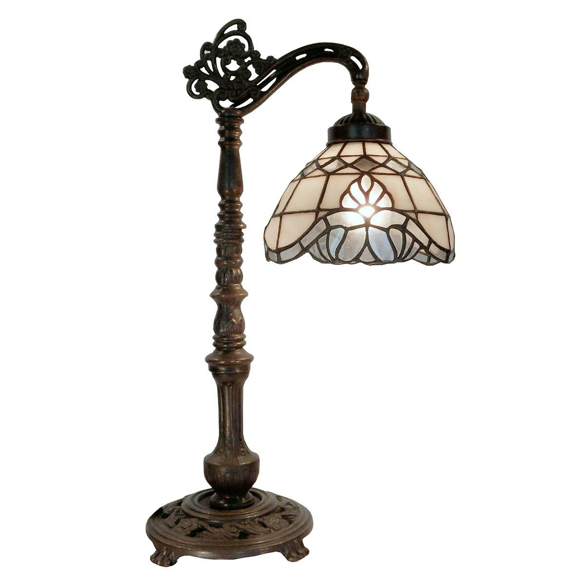 Vienna Tiffany Style Stained Glass Edwardian Table Lamp