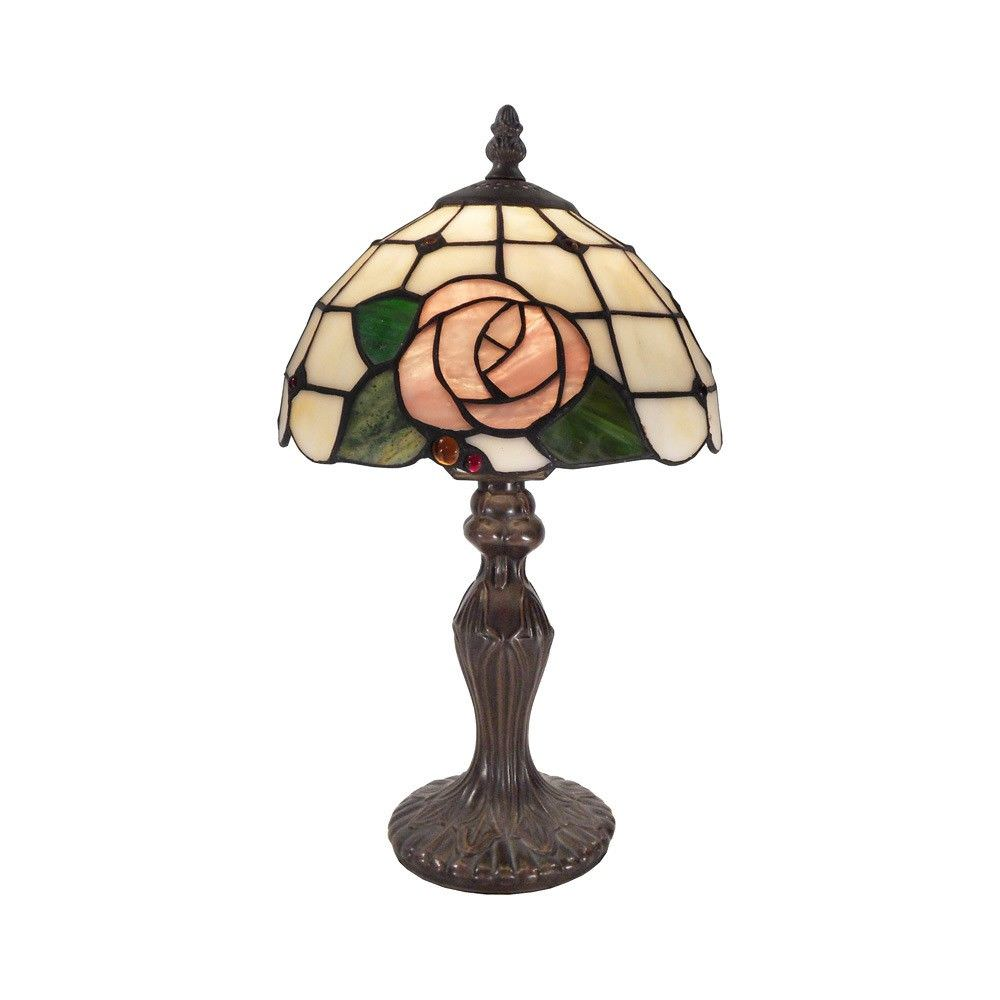 Pia Tiffany Style Stained Glass Table Lamp, Extra Small