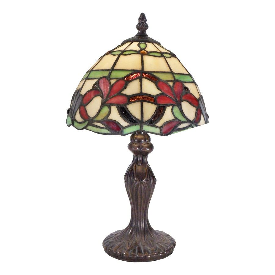 Zeya Tiffany Style Stained Glass Table Lamp, Extra Small