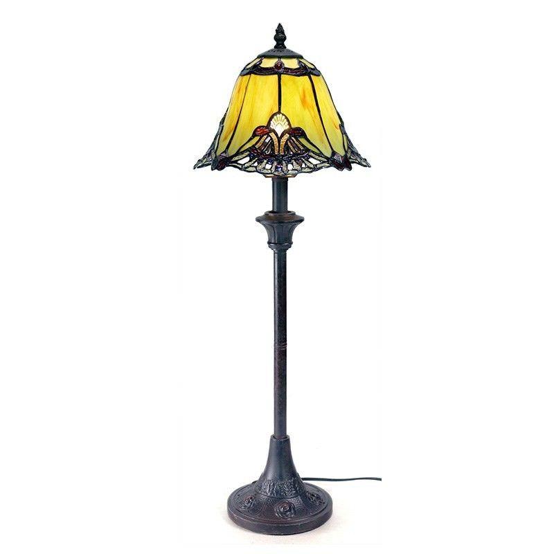 Benita Jade Tall Tiffany Glass Table Lamp - 71cm