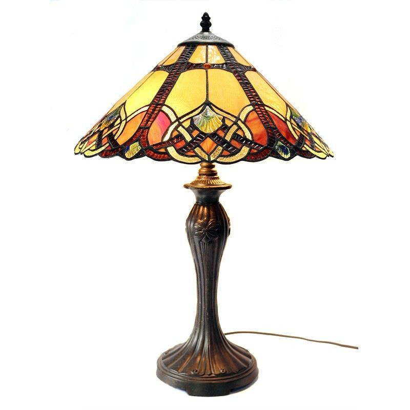 Sunset Tiffany Style Stained Glass Table Lamp, Large