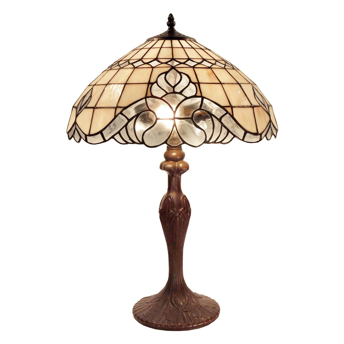 Vienna Tiffany Style Stained Glass Table Lamp, Large
