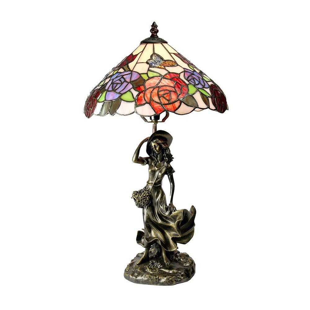 Hannah Tiffany Style Stained Glass Table Lamp