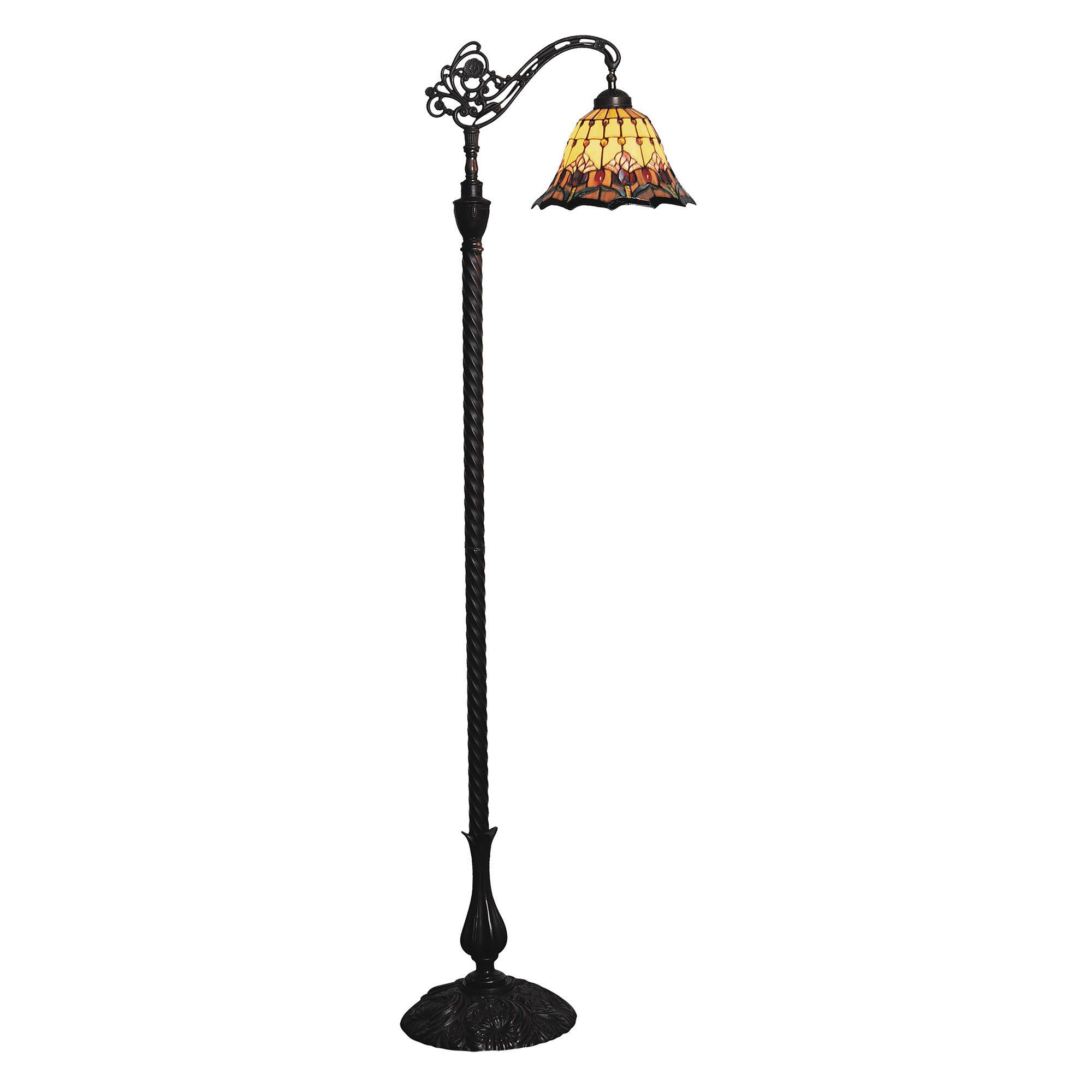 Picture of: Red Tulip Tiffany Style Stained Glass Edwardian Floor Lamp