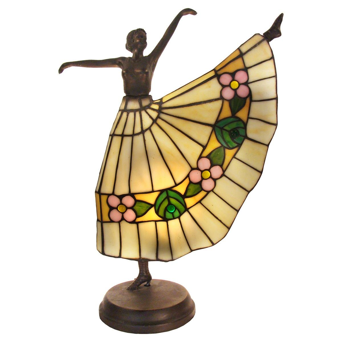 Iria Tiffany Style Stained Glass Figurine Table Lamp