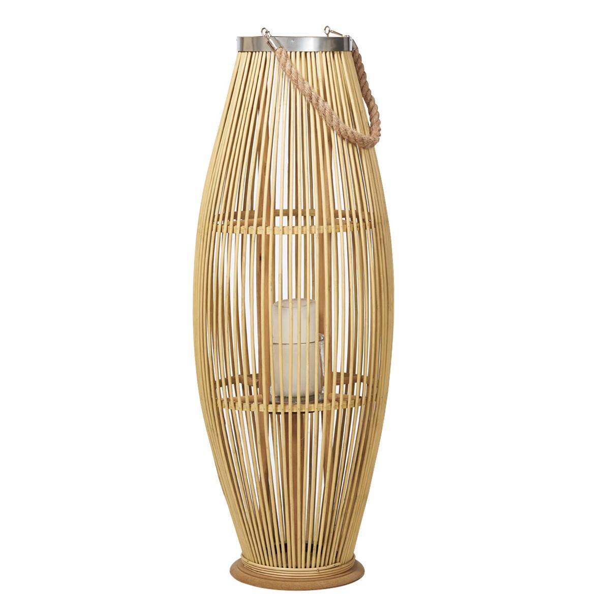 Hanoi Bamboo Floor Lantern, Large, Natural