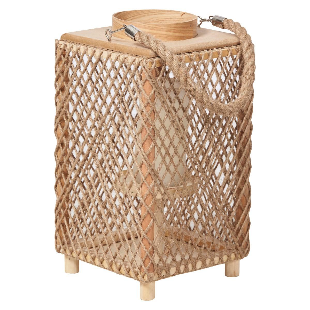 Hamp Hemp Rope Lantern, Medium, Natural