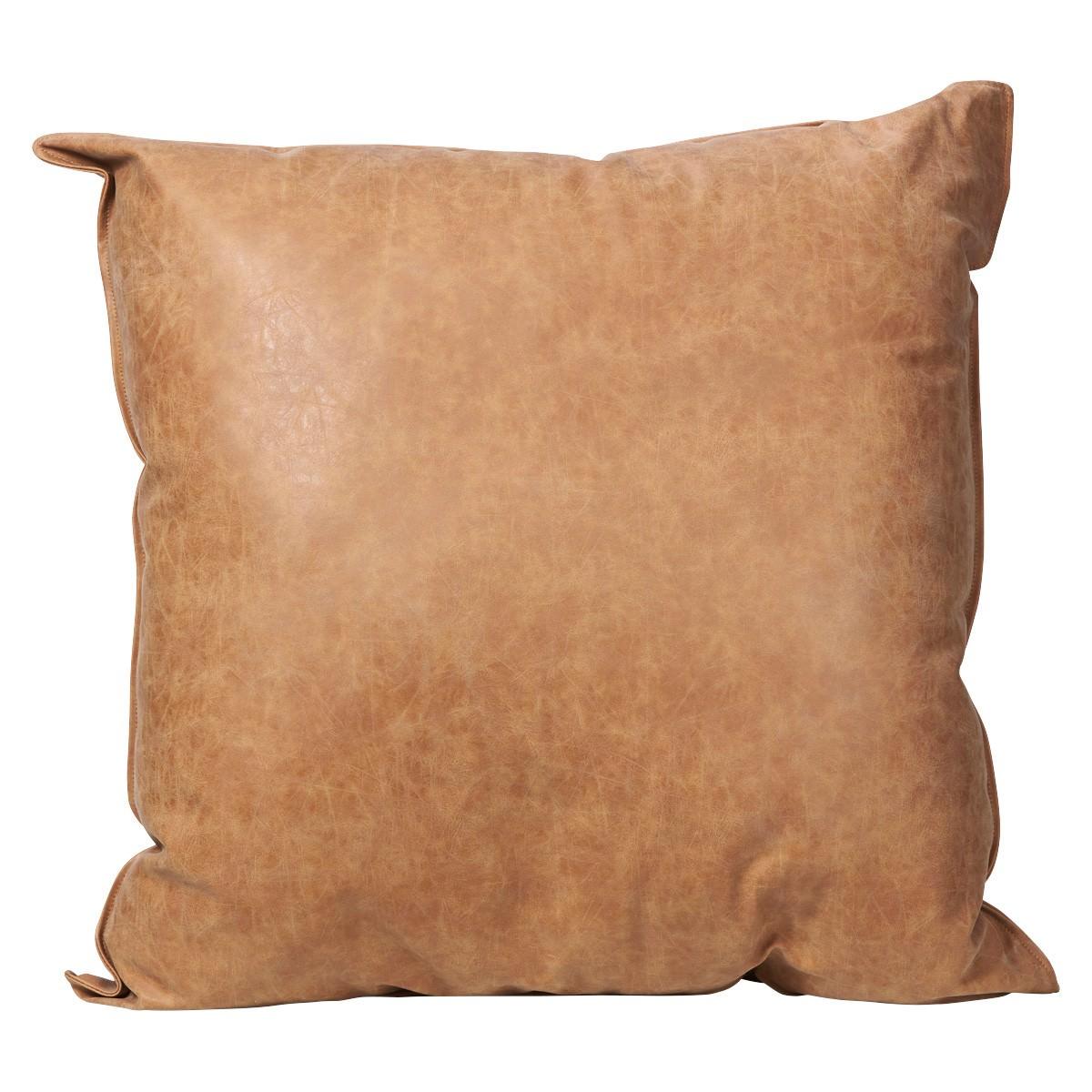 Rover PU Leather Floor Cushion, 75cm, Tan