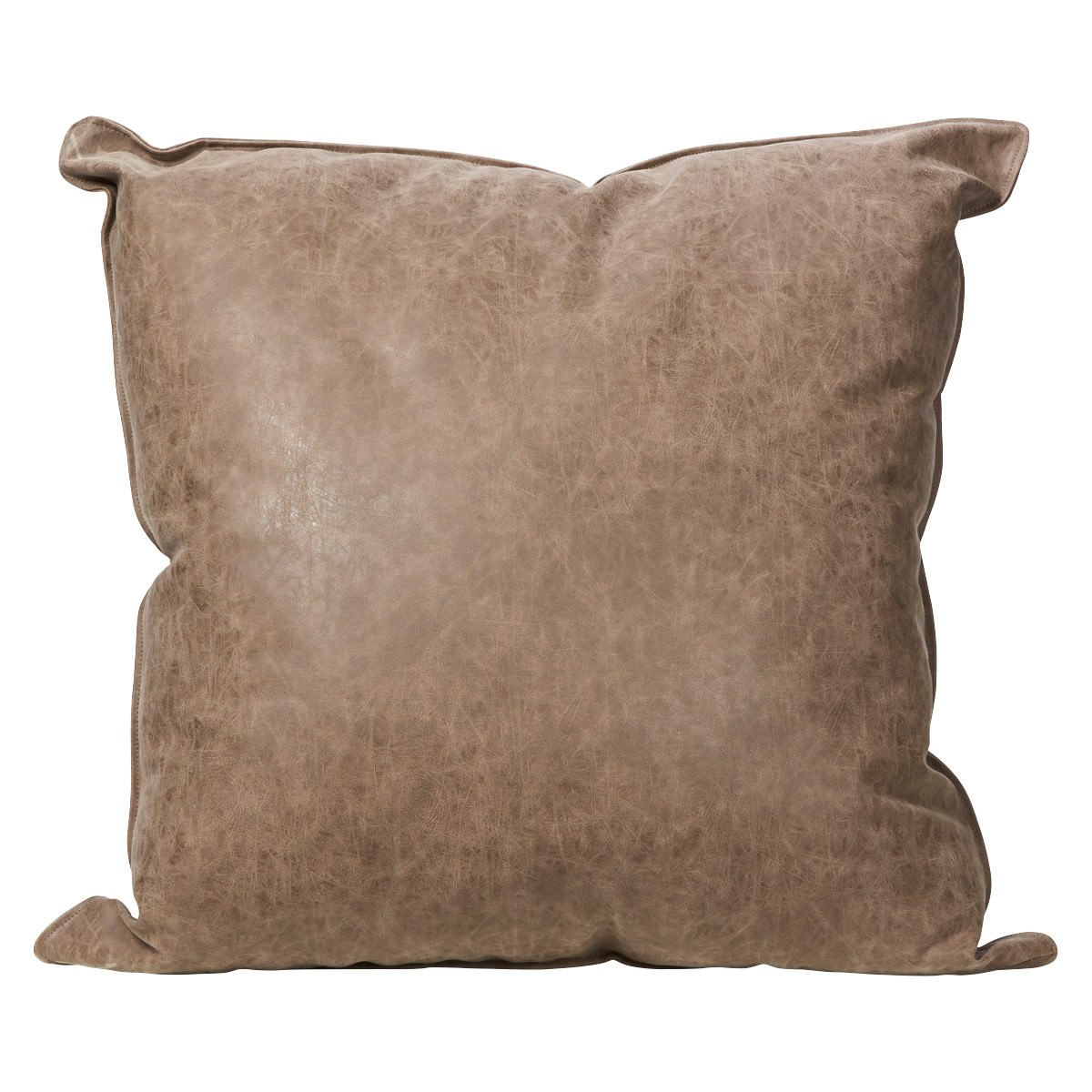 Rover PU Leather Scatter Cushion, 45cm, Chocolate