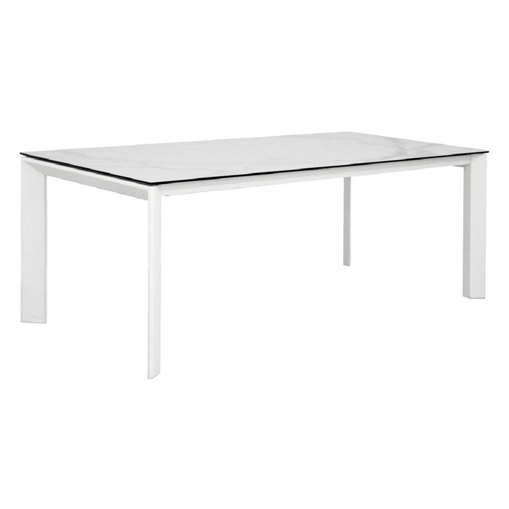 Madrid Ceramic Glass Top Dining Table, 200cm