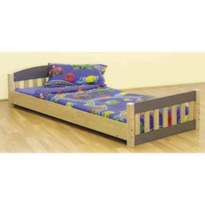 Toby Wooden Lowline Bed, Single
