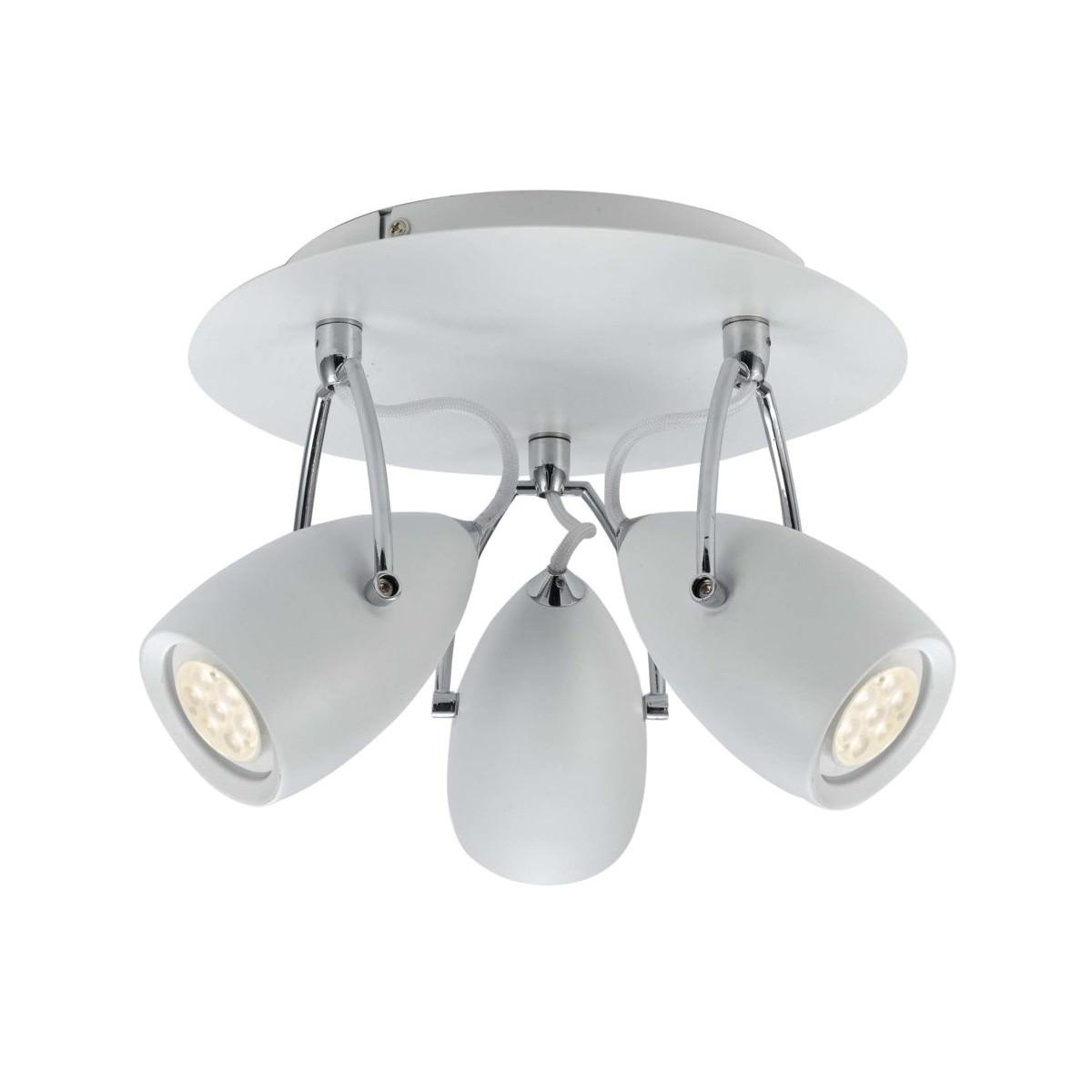 Tolosa LED Round Panel Spotlight, 3 Light, White