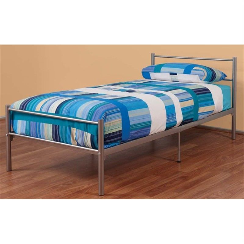 Tommy Double Bed In Silver